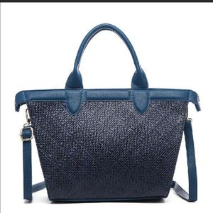 🌸NEW! Textured Blue Tote.